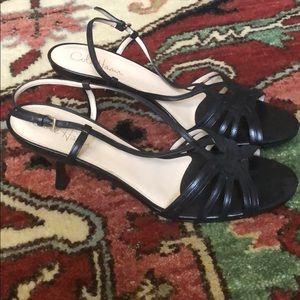 Brand new never worn black heel sandals